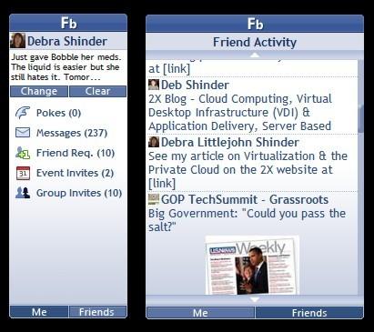vista facebook sidebar gadget